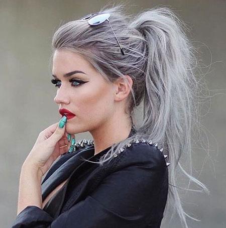 Hairtyles Messy Ponytail Hair