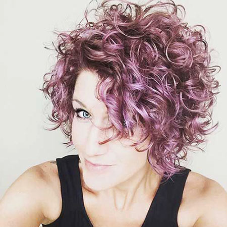Curly Hair Pixie Color