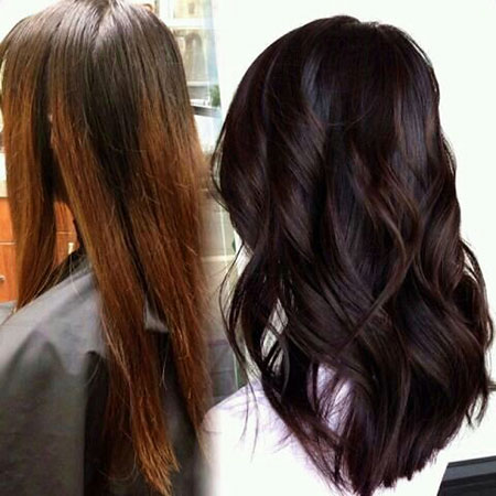 Hair Brown Color Violet