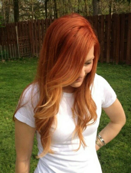 Hair Red Ombre Blonde