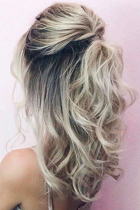 Hair Blonde Medium Length