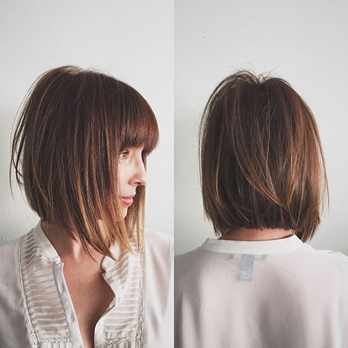 Short Layered Cuts With Bangs
