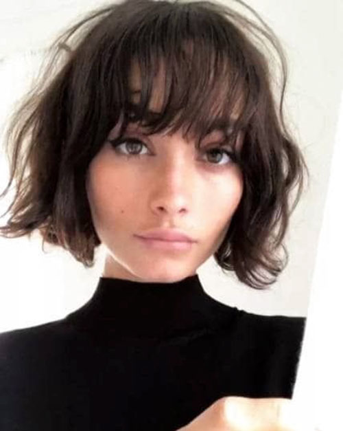 Short Curly Layered Haircuts With Bangs