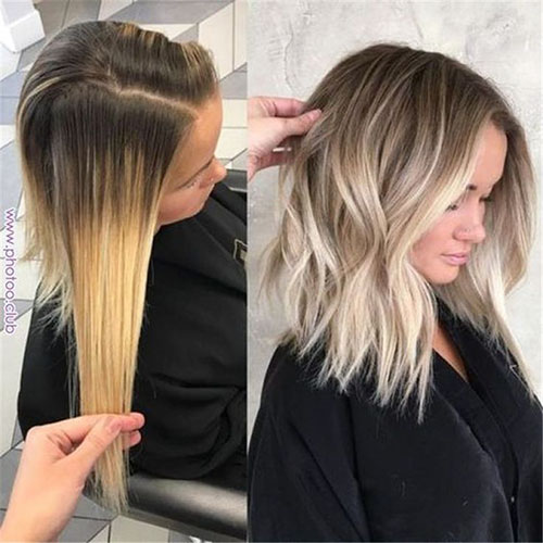 Short Brown Hair With Blonde Highlights
