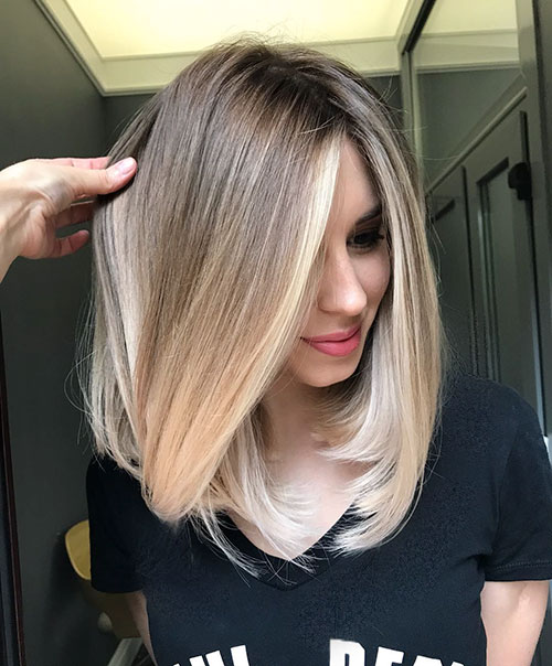 Ombre Short Hair Brown To Blonde