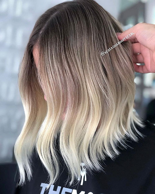 Brown To Blonde Ombre Short Hair