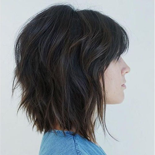 Short Layered Bob Haircuts With Bangs