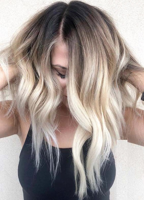 Ombre Brown To Blonde Short Hair