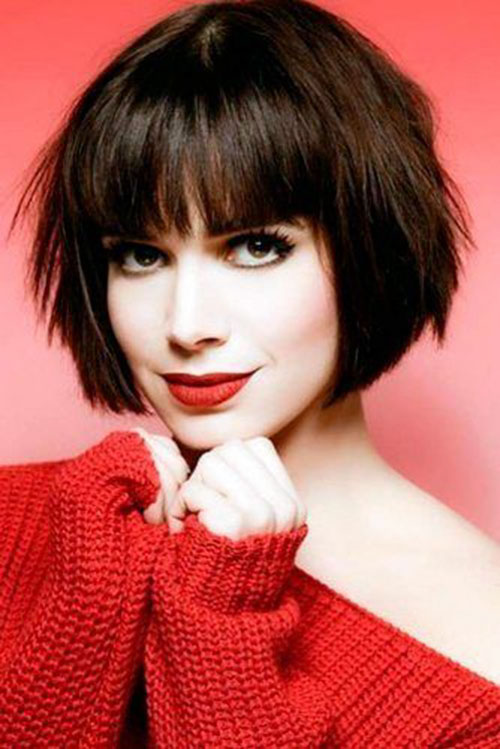 Short Layered Bob With Bangs