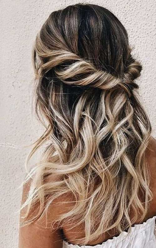 Brideasmaid Twisted Half Up Hairstyles-10