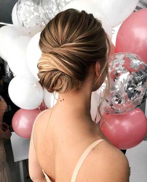 Classy Bun Brideasmaid Hairstyles-7